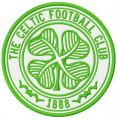 The Celtic FC logo embroidery design