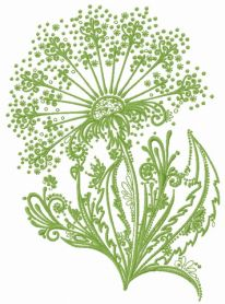 Dandelion 3 machine embroidery design
