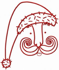 Santa's face 6 machine embroidery design