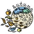 Rainy autumn embroidery design