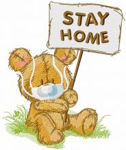 Teddy stay home