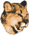 Big Cheetah free machine embroidery design