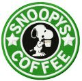 Snoopy's coffee embroidery design