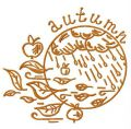 Rainy autumn 2 embroidery design