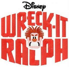 Wreck-It Ralph logo machine embroidery design