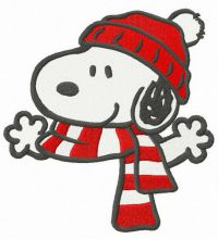 Warm winter set for Snoopy
