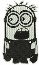Black and white Minion