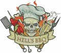 Hell's BBQ embroidery design