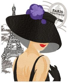 French coquette machine embroidery design