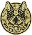 Man's best friend embroidery design