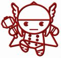 Chibi Thor attacks embroidery design