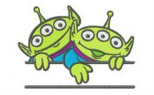 Two Little Green Men monogram