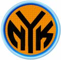 New York Knicks alternative logo embroidery design
