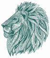Mosaic lion 3 embroidery design