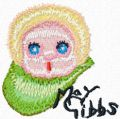 Gumnut baby face embroidery design