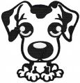 Dog Applique free embroidery design 1