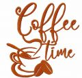 Coffee time free embroidery design