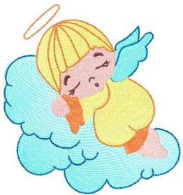 Sleeping angel free embroidery design