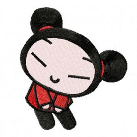 Pucca - Happy Together machine embroidery design