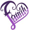 Faith embroidery design