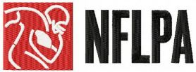 National Football League Players Association machine embroidery design