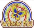 Waikiki bay badge embroidery design