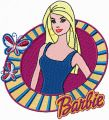 Barbie with butterflies embroidery design