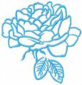 Blue rose free embroidery design