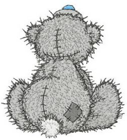 Teddy Bear missing you machine embroidery design