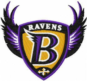 Baltimore Ravens logo machine embroidery design