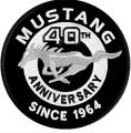 Mustang Anniversary 1964 logo embroidery design