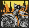 Retro Vintage Moto Racing label embroidery design