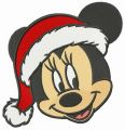 Adorable Minnie celebrates Christmas embroidery design