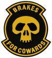 Brakes for cowards embroidery design