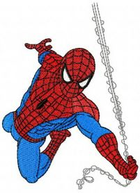 Spiderman rushes to rescue machine embroidery design