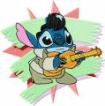 Stitch as Elvis embroidery design