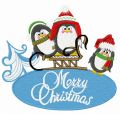 Penguin's Christmas embroidery design