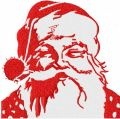 Santa Claus red and white embroidery design