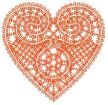 Heart lace decoration