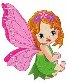 Baby fairy machine embroidery design