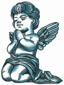 Angel talking with God machine embroidery design
