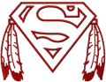 Native Superman logo 2 embroidery design