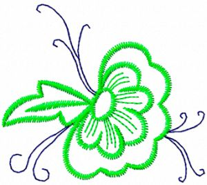 Flowers applique