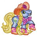 Little Pony Country Style embroidery design