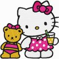Hello Kitty - We are Friends embroidery design