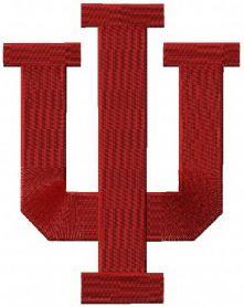 Indiana University Bloomington machine embroidery design