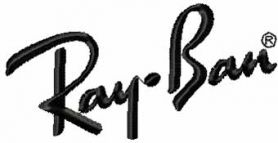 Ray-Ban Logo machine embroidery design