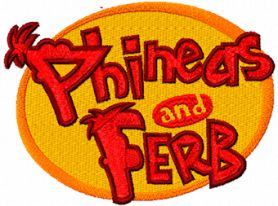 Phineas and Ferb Logo machine embroidery design