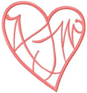 Pink tribal heart