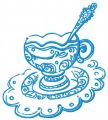 Elegant cup of tea 3 embroidery design